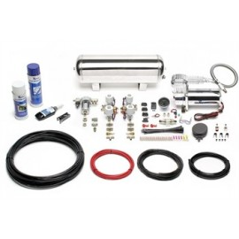 TA Technix air management system for air suspension / airride  380er TA Technix compressor, chromed 11,5 liters / 3 gallons