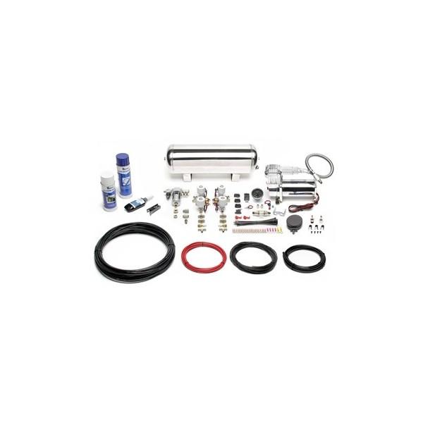 TA Technix air management system for air suspension / airride, 380er TA  Technix compressor, chromed, 11,5 liters / 3 gallons