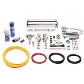 TA Technix air management system for air suspension / airride 480er Viair compressor 11,5 liters / 3 gallons - chrome tank Viair