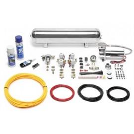TA Technix air management system for air suspension / airride 480er Viair compressor 19 liters / 5 gallons - chrome tank Viair d