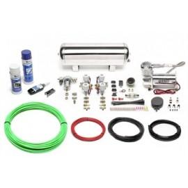 TA Technix air management system for air suspension / airride 380er Viair compressor 11,5 liters / 3 gallons - chrome tank Viair