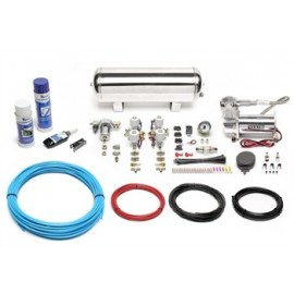 TA Technix air management system for air suspension / airride 380er Viair compressor 11,5 liters / 3 gallons - chrome tank Viair