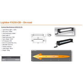 OSRAM LED LIGHTBAR FX250-CB, 35W ref. 27.5, 309mm kaugtuli
