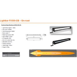 OSRAM LED LIGHTBAR FX500-CB,68W, Ref. 45, 564mm kaugtuli