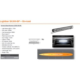 OSRAM LED LIGHTBAR SX300-SP, 29W, ref. 20, 355mm kaugtuli