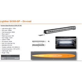 OSRAM LED LIGHTBAR SX500-SP, 46W, Ref. 30, 556mm kaugtuli