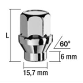 MUTTER MH12X1,25/34/19 (KINNINE, P34, CH19, 60??+H??LSS 15,7/6MM)