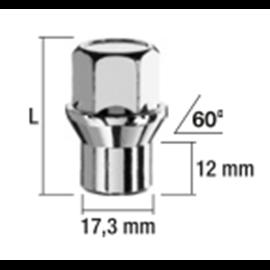 MUTTER MH12X1,25/36/19 (KINNINE, P36, CH19, 60??+H??LSS 17,3/12,0MM)