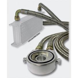 Set for Oil Cooler Oil Filter Adapter 1.25 m Armoured Hose
