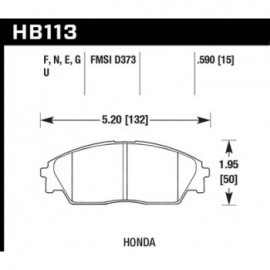 HAWK HB113E.590 brake pad set - Blue 9012 type (15 mm)