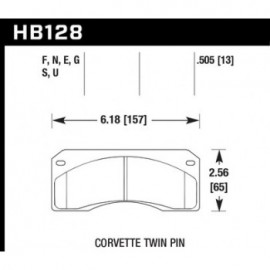 HAWK HB128E.505 brake pad set - Blue 9012 type (13 mm)