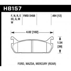 HAWK HB157G.484 brake pad set - DTC-60 type (12 mm)