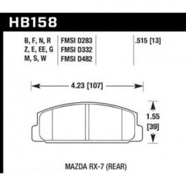 HAWK HB158G.515 brake pad set - DTC-60 type (13 mm)