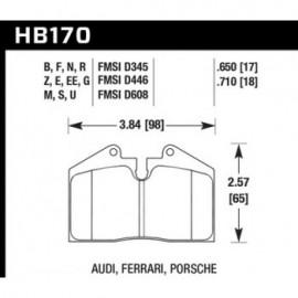 HAWK HB170U.650 brake pad set - DTC-70 type (17 mm)