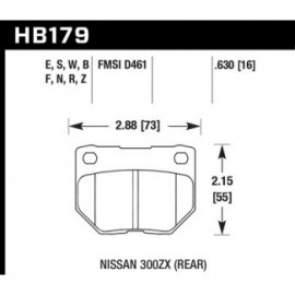 HAWK HB179S.630 brake pad set - HT-10 type (16 mm)