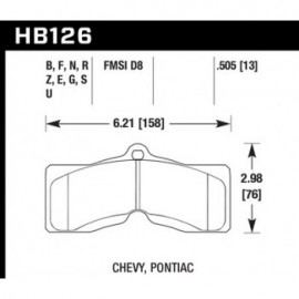 HAWK HB126F.505 brake pad set - HPS type