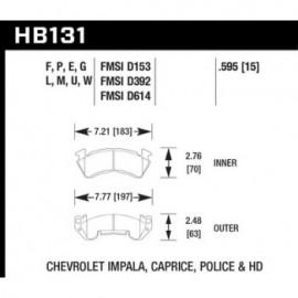 HAWK HB131F.595 brake pad set - HPS type