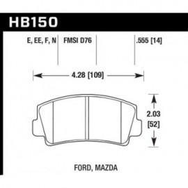 HAWK HB150F.555 brake pad set - HPS type