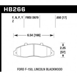 HAWK HB266Y.650 brake pad set - LTS type