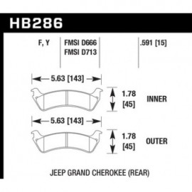 HAWK HB286Y.591 brake pad set - LTS type