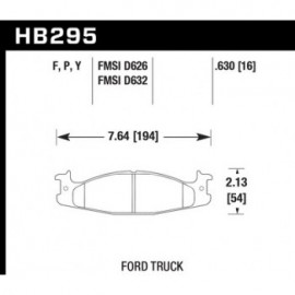 HAWK HB295Y.630 brake pad set - LTS type
