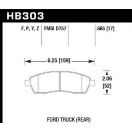 HAWK HB303Y.685 brake pad set - LTS type