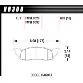 HAWK HB308Y.689 brake pad set - LTS type
