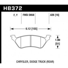HAWK HB372Y.626 brake pad set - LTS type