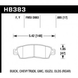 HAWK HB383Y.685 brake pad set - LTS type
