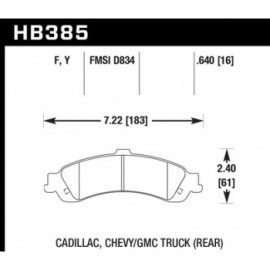 HAWK HB385Y.640 brake pad set - LTS type