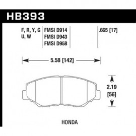 HAWK HB393Y.665 brake pad set - LTS type