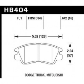 HAWK HB404Y.642 brake pad set - LTS type