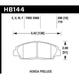 HAWK HB144G.719 brake pad set - DTC-60 type (18 mm)