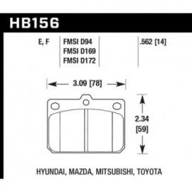 HAWK HB156F.562 brake pad set - HPS type