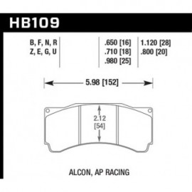 HAWK HB109E.650 brake pad set - Blue 9012