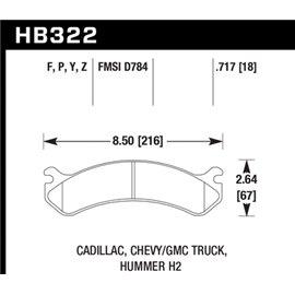 HAWK HB322Y.717 brake pad set - LTS type