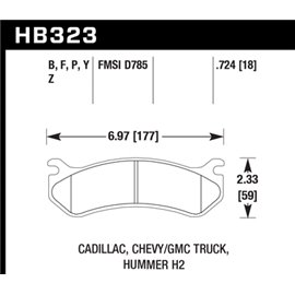 HAWK HB323Y.724 brake pad set - LTS type