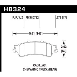 HAWK HB324Y.673 brake pad set - LTS type