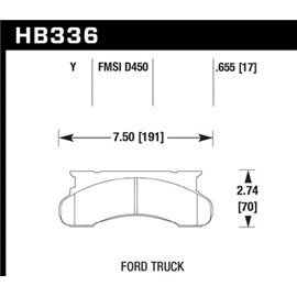 HAWK HB336Y.655 brake pad set - LTS type