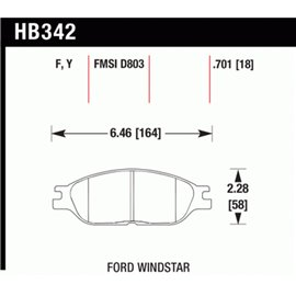 HAWK HB342Y.701 brake pad set - LTS type