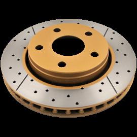 DBA DBA disc brake - Street Series - X-GOLD Cross-Drilled & Slotted DBA 2353X