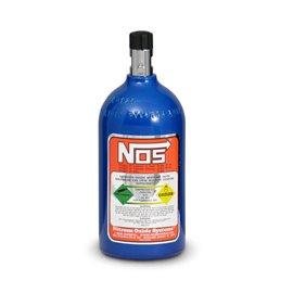 NOS 14710 Nitrous Bottle 2 lb Nitrous Bottle Electric Blue Finish with Mini Hi-Flow Valve