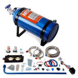 NOS 05151 NOS GM EFI NITROUS SYSTEM GM EFI Nitrous System Plate Design 100-150 HP Tuned Port Injection w/10 lb Bottle