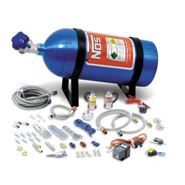 NOS 05130 NOS NITROUS SYSTEM MULTI-FIT For 4 & 6 Cylinder Multi-Point EFI Engines, includes 10 lb Blue Bottle. 35-75 hp.