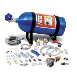 NOS 05130 NOS NITROUS SYSTEM MULTI-FIT For 4 & 6 Cylinder Multi-Point EFI Engines, includes 10 lb Blue Bottle. 35-75 hp.
