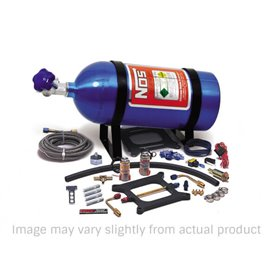 """NOS 05001 NOS NOS """"Powershot"""" series Nitrous System, fits Holley 4150 and Carter AFB (late), 125 HP, includes Blue 10 lb Bottle"""