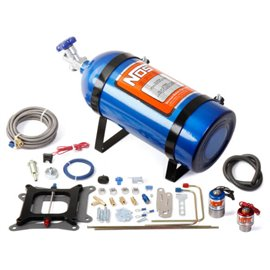 "NOS 02001 ""Cheater"" series Nitrous System, fits Holley 4150 and Carter AFB (late), 150-250 HP, includes Blue 10 lb Bottle"