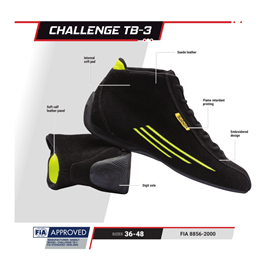 SABELT RFTB03NRR40  CHALLENGE TB-3 shoes black 40