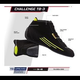 SABELT RFTB03NRR44  CHALLENGE TB-3 shoes black 44
