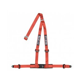 SPARCO street harnesses 2 INCH 3PT BOLT-IN RED